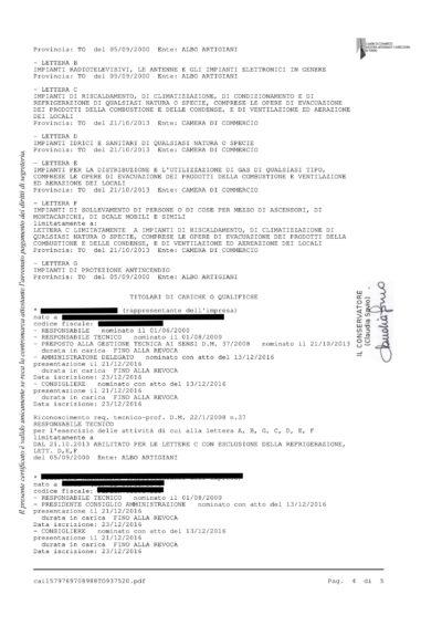 Certificato camerale 4