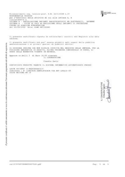 Certificato camerale 5